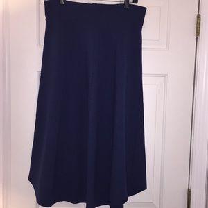 Anthropologie MAEVE Navy/Marin Skirt
